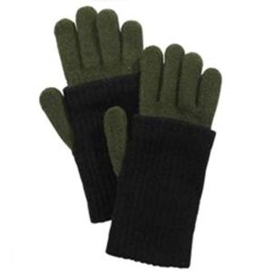 Steve Madden Ribbed Knit iTouch Gloves Black Olive